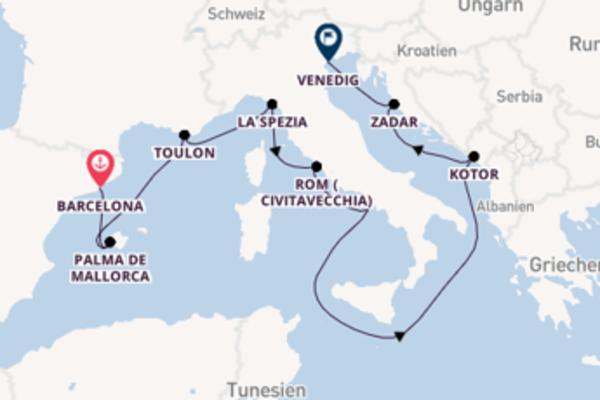 10 Tage Mittelmeer Kreuzfahrt