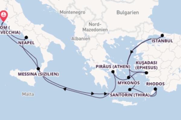 Einzigartige Kreuzfahrt über Istanbul ab Rom (Civitavecchia)