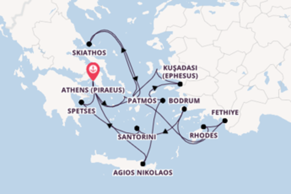 Iconic journey from Athens (Piraeus) with Seabourn