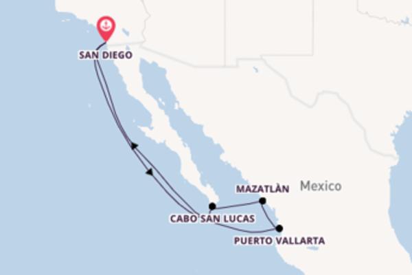 8 giorni verso San Diego passando per Mazatlàn