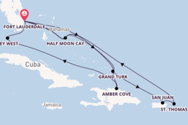 Geniet van een 15-daagse cruise naar Fort Lauderdale