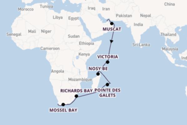 19-daagse cruise naar Richards Bay