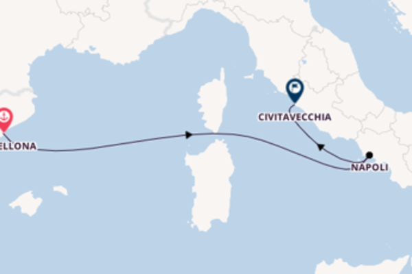 Viaggio da Barcellona verso Napoli
