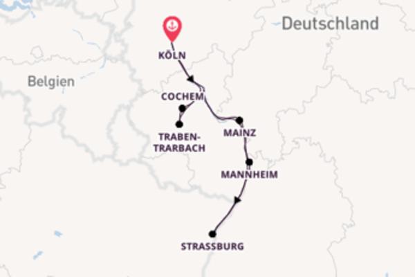 Von Köln über Mannheim in 8 Tagen