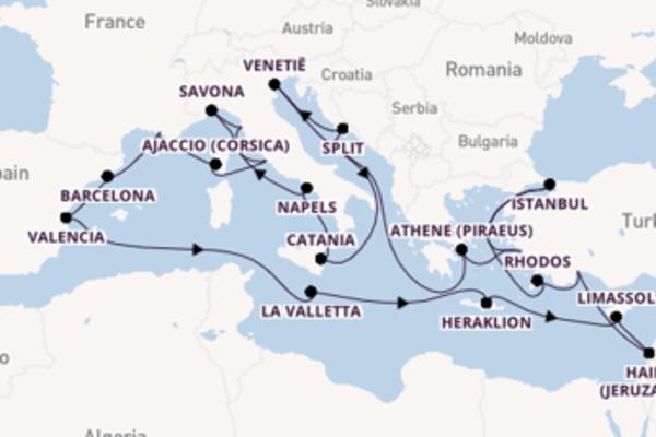 Cruise in 32 dagen naar Marseille met Costa Cruises