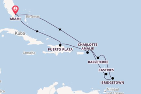 Miami und Charlotte Amalie entdecken