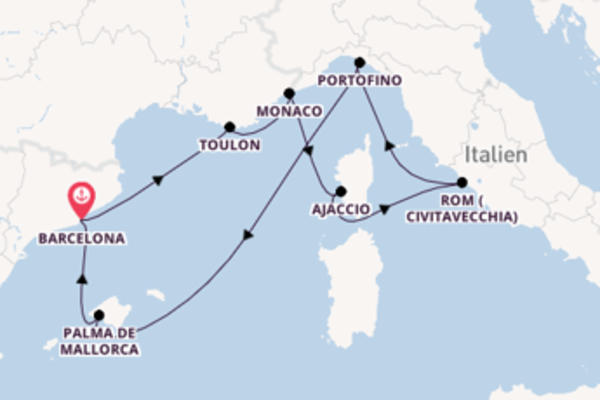 Von Barcelona über Toulon in 9 Tagen