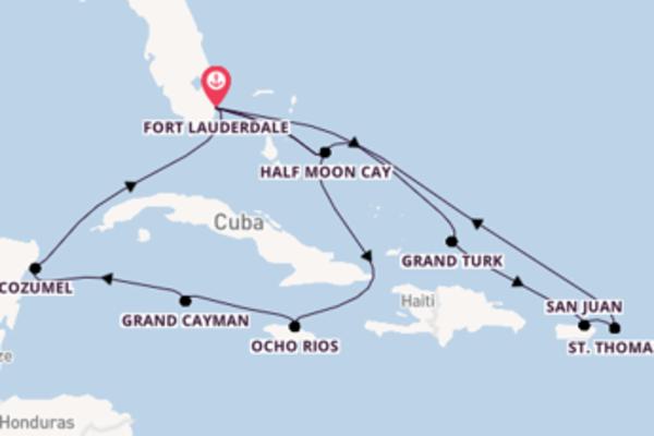 15-daagse cruise met de Eurodam vanuit Fort Lauderdale