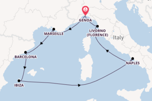 Sensational cruise from Genoa with MSC Cruises