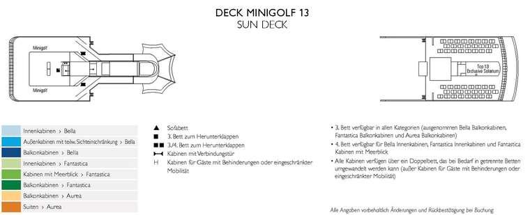 MSC Opera Deck 13 Sun Deck - Minigolf