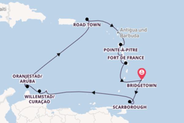 Kreuzfahrt mit der Azura nach Bridgetown