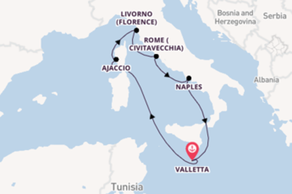 8 day cruise with the Azura to Valletta