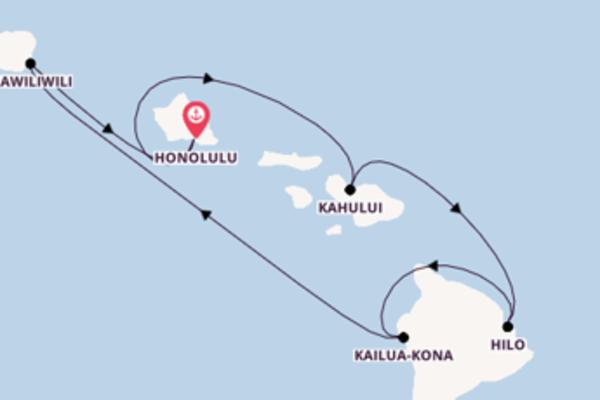 8-daagse cruise met de Pride of America vanuit Honolulu