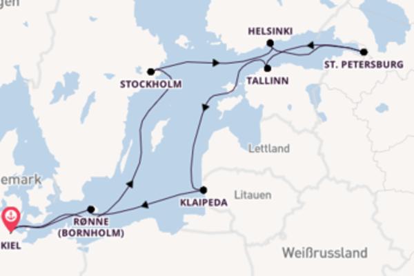 10 Tage Ostsee Reise