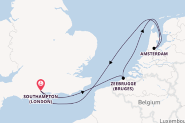 Expedition from Southampton (London) with the Celebrity Silhouette
