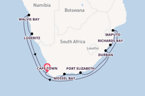 Majestic cruise from Cape Town with Regent Seven Seas Cruises