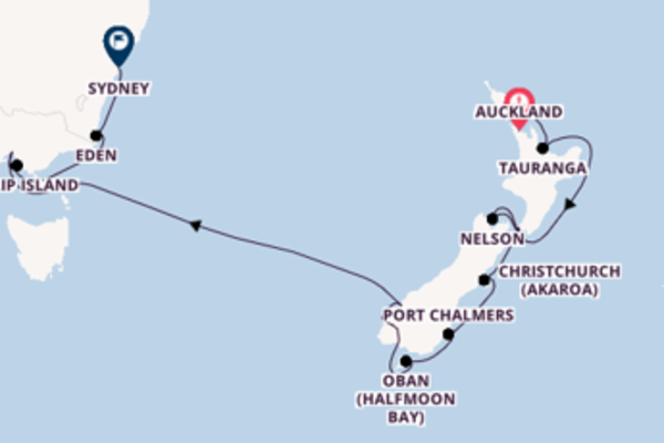 Cruising from Auckland to Sydney