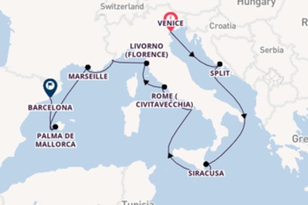 Cruising from Venice with the Marina