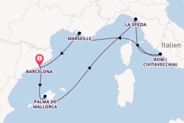 Spannende Kreuzfahrt über Palma de Mallorca ab Barcelona