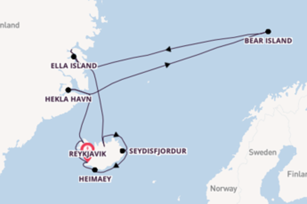 15 day cruise from Reykjavik
