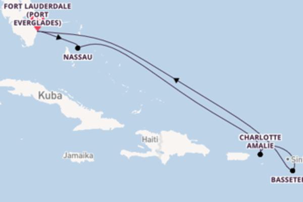 In 8 Tagen nach Fort Lauderdale (Port Everglades)