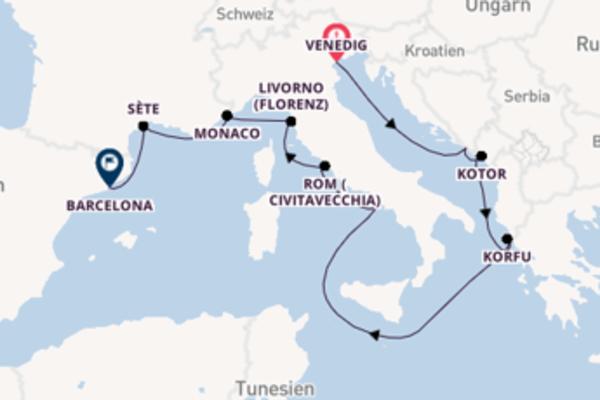 Von Venedig über Korfu in 13 Tagen