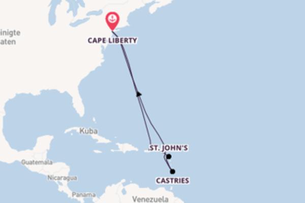 In 12 Tagen nach Cape Liberty