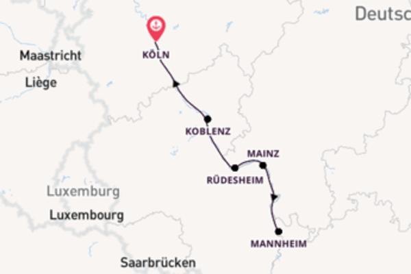 Kreuzfahrt mit der A-ROSA BRAVA nach Köln