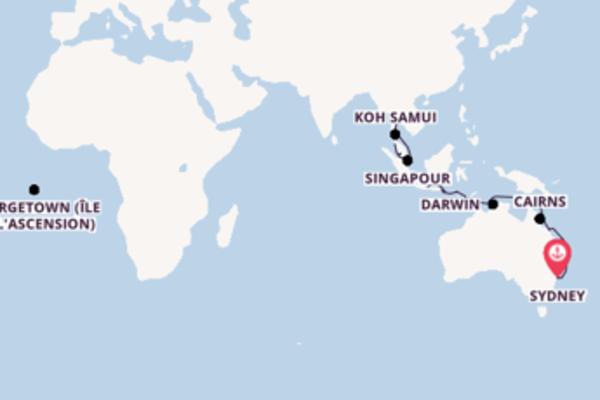 28 jours de navigation à bord du bateau Crystal Symphony vers Laem Chabang