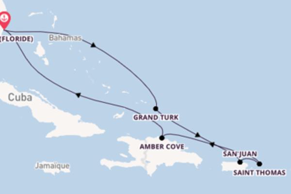 Dépaysante balade de 8 jours à bord du bateau Carnival Magic