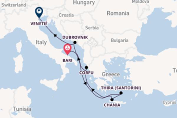 Cruise naar Kreta & Santorini