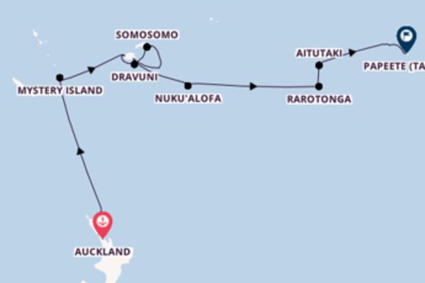 Erleben Sie Neiafu, Tonga, Port Denarau, Fiji und Rarotonga, Cook-Inseln