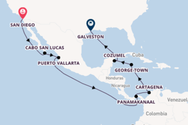 15-daagse cruise vanaf San Diego
