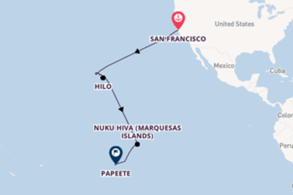 Voyage with Regent Seven Seas Cruises from San Francisco to Papeete
