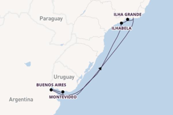 Crociera da Rio de Janeiro verso Ilha Grande
