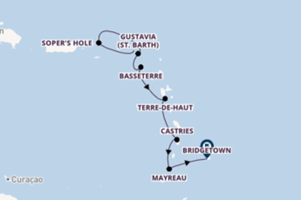 Sail with Seabourn from Philipsburg to Bridgetown