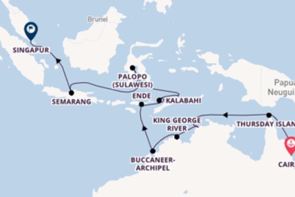 Cairns, Australien, Darwin, Australien und Singapur, Singapur entdecken