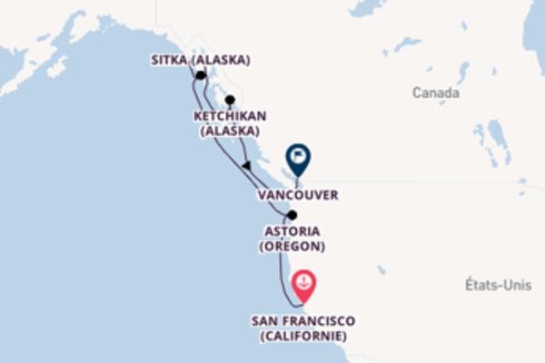Contemplez à bord du bateau Regatta, la destination: Ketchikan