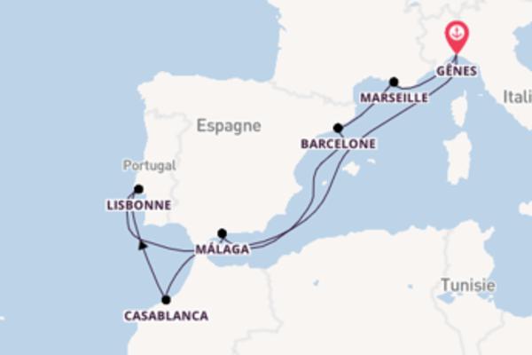 10 jours pour découvrir Lisbonne au départ de Gênes