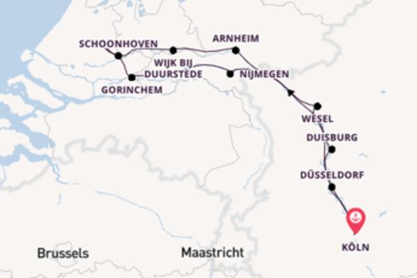 Beeindruckende Kreuzfahrt über Gouda, Niederlande ab Köln, Deutschland