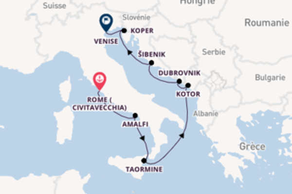 Šibenik et une étonnante croisière depuis Rome (Civitavecchia)