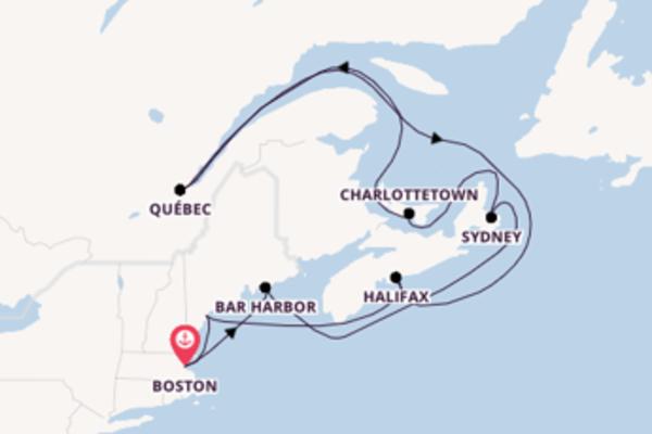 13-daagse cruise naar Halifax