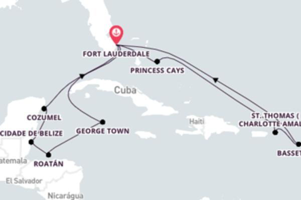 Fantástica viagem de 15 dias até Fort Lauderdale