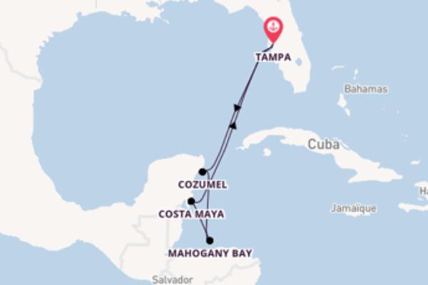 Explorez à bord du bateau Carnival Legend, la destination: Cozumel