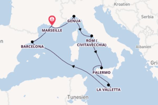 Erleben Sie Civitavecchia ab Marseille