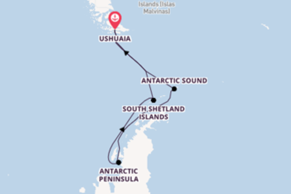 Trip with Silversea from Ushuaia