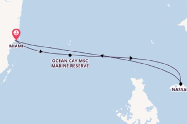 5-daagse cruise met het MSC Armonia vanuit Miami