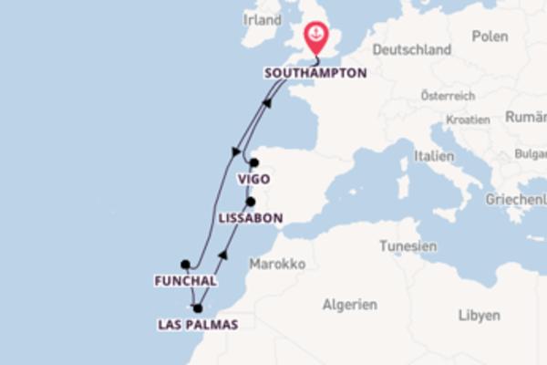 In 12 Tagen nach Southampton über Las Palmas