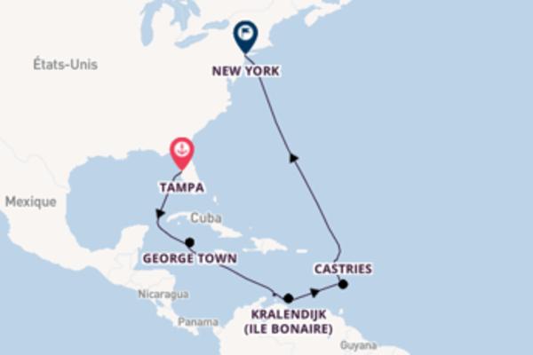 Admirez à bord du bateau Norwegian Dawn, la destination: Oranjestad (Aruba)