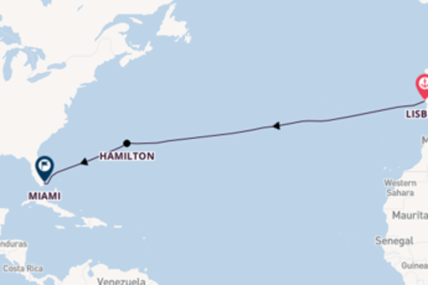 13 day journey to Miami from Lisbon